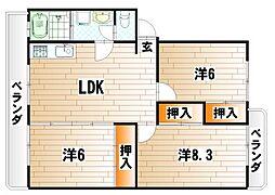 第三泉ヶ丘ビル[2階]の間取り