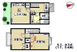 寺島ハウス[1・2階号室]の間取り