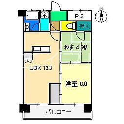 N&A APARTMENT[5階]の間取り