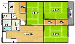 広島県安芸郡府中町八幡2丁目の賃貸アパートの間取り