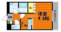 岡山県倉敷市大島の賃貸マンションの間取り