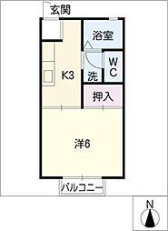 ロイヤル松本[1階]の間取り