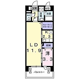 ウィズテリア港南[2階]の間取り