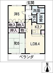 サブリメイト[3階]の間取り