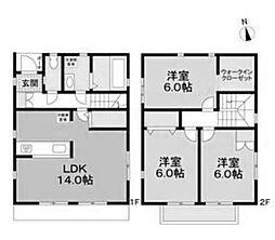 [一戸建] 愛知県名古屋市昭和区小桜町2丁目 の賃貸【/】の間取り