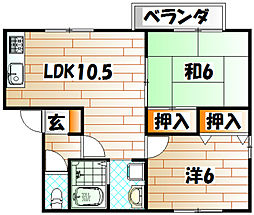 セジュール彩 E棟[1階]の間取り