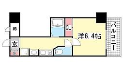 ロイヤルヒル神戸三宮2[4階]の間取り