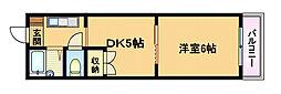 Osaka Metro谷町線 都島駅 徒歩10分の賃貸マンション 6階1DKの間取り