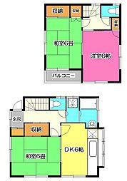 [一戸建] 埼玉県所沢市喜多町 の賃貸【/】の間取り