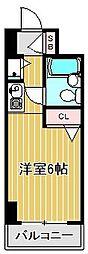 神奈川県川崎市中原区丸子通1丁目の賃貸マンションの間取り