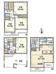 [一戸建] 埼玉県さいたま市南区根岸2丁目 の賃貸【/】の間取り