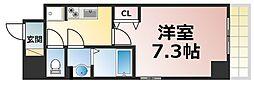 Osaka Metro千日前線 新深江駅 徒歩2分の賃貸マンション 7階1Kの間取り