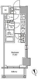JR総武線 飯田橋駅 徒歩4分の賃貸マンション 9階1Kの間取り