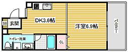 ライフデザイン三宮東[5階]の間取り