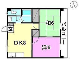 ハイツ南松山[402 号室号室]の間取り