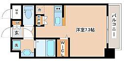 JR山陽本線 新長田駅 徒歩2分の賃貸マンション 5階ワンルームの間取り