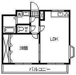 ユーミー桜坂[4階]の間取り