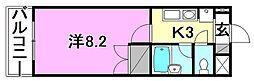 フェニックス東石井[302 号室号室]の間取り