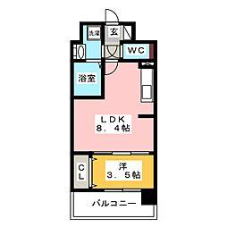 modern palazzo博多surII[7階]の間取り