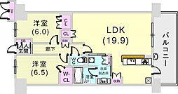 プレミスト神戸ハーバーレジデンス[14階]の間取り