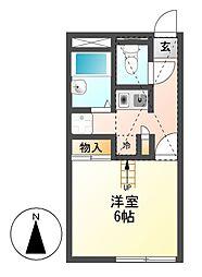 レオパレスWEST FORT[1階]の間取り