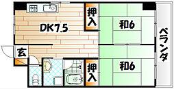 プレアール大田町[3階]の間取り