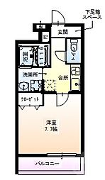 Osaka Metro御堂筋線 江坂駅 徒歩9分の賃貸アパート 3階1Kの間取り