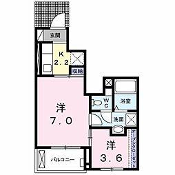 Casa Kodama[0102号室]の間取り