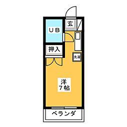 小澤マンション[4階]の間取り