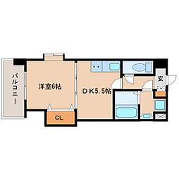 兵庫県尼崎市東園田町9の賃貸マンションの間取り