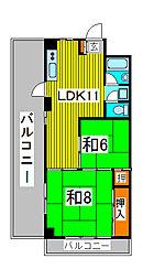 栄コーポ[302号室]の間取り