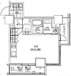 パークキューブ愛宕山タワー[8階]の間取り