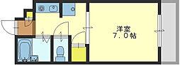 アイリス長栄寺[109号室]の間取り