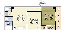 ベルハイツVI[5階]の間取り