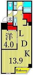 つくばエクスプレス 浅草駅 徒歩10分の賃貸マンション 6階1LDKの間取り