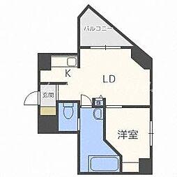 北海道札幌市中央区宮の森一条5の賃貸マンションの間取り