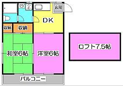 志木第一コーポ[2階]の間取り