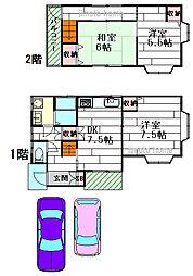 [一戸建] 大阪府茨木市宇野辺2丁目 の賃貸【大阪府 / 茨木市】の間取り