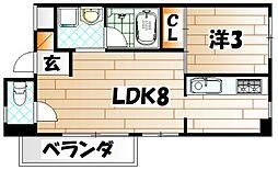 福岡県北九州市門司区栄町の賃貸マンションの間取り