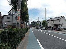 前面道路 豊島園方面 目の前がバス停です。