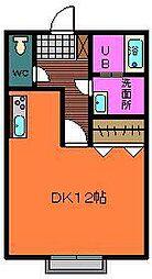 カプチーノD[102号室]の間取り