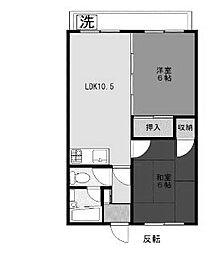 新百合コーポラス[2階]の間取り
