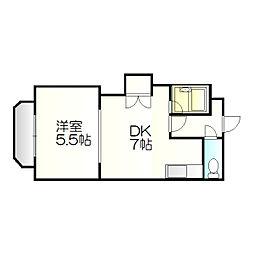 ビッグバーンズマンション新札幌[403号室]の間取り