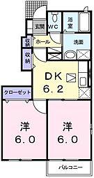 ガーデンハウス ブルックII番館[101号室]の間取り