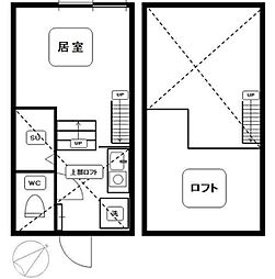 東京都豊島区上池袋2丁目の賃貸アパートの間取り