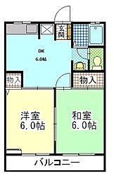 シェモアA[1階]の間取り