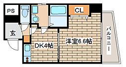 兵庫県神戸市中央区旭通5丁目の賃貸マンションの間取り