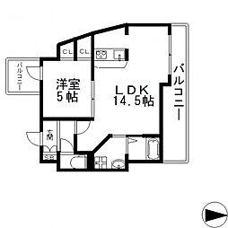TSカーサテルッツォ[10階]の間取り