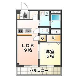 藤本マンション[2階]の間取り