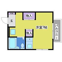 パークサイド宮下[2階]の間取り